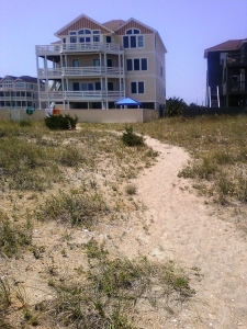 Outer Banks house where I vacationed