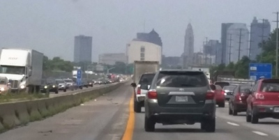 Look at the smog (air pollution) in Columbus, Ohio.
