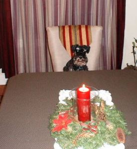 This is me waiting for Christmas dinner in 2007.
