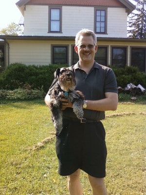 Once again I get picked up for a picture. We stayed at a B&B in Appleton, WI. Daddy used to own this house.