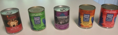 dog food cans
