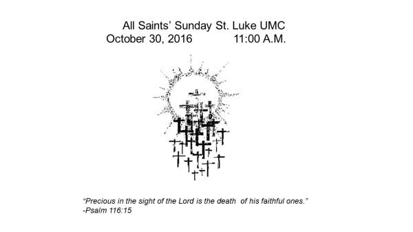 All Saints' bulletin cover