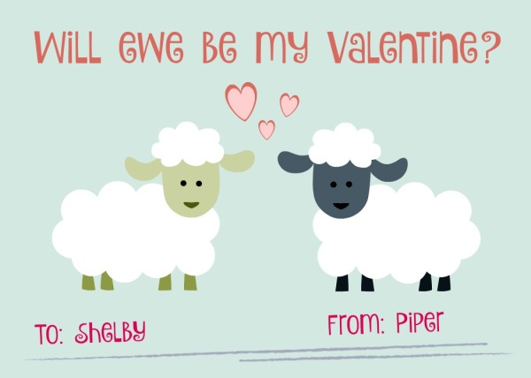 Pipers valentine to Shelby